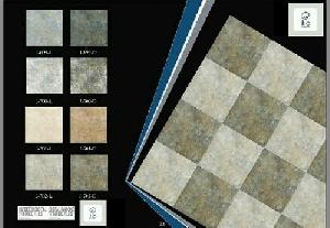 300x300 Digital Vitrified Parking Tiles