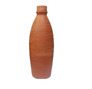 Terracotta Clay Water Bottle