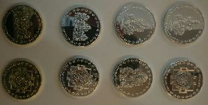Silver And Gold Color Plated Coins