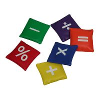 Mathematical Symbols Pvc bean bags
