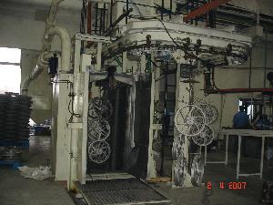 Shm Spinner Hanger Monorail Shot Blasting Machine