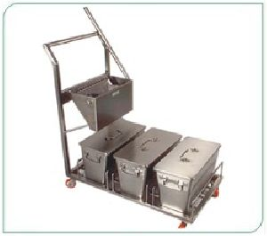 Stainless Steel Sanitation And Mopping Trolley