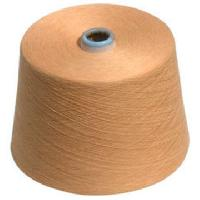 Recycled cotton polyester dyed yarn