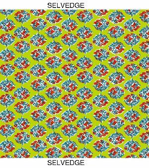 Leaf Print Cotton Fabric