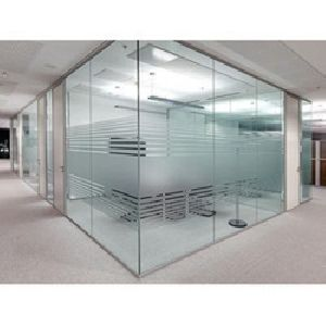 Toughened Glass Office Partition