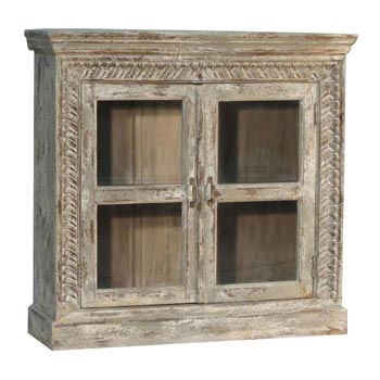 Carved Mini Cabinet