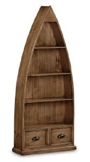 Reclaimed Wooden Bookcase Boat Style