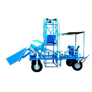 Concrete Mixer Hoist Machine With Hydraulic Hopper