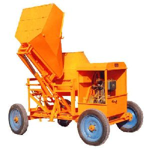 Concrete Mixing Machine With Hydraulic Hopper