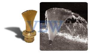 Brass Fan Jet Fountain Nozzle