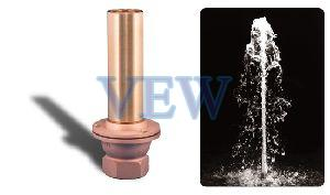 Copper Non Adjustable Street Jet Aerated Effect Fountain Nozzle