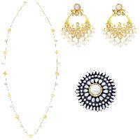 Lotus Pearl Contemporary Necklace