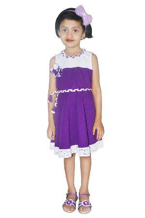 Girls Border Lace Circular Dress