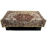 Chenille Maroon Table Cover