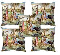 Village Print Cushion Cover