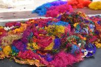 Multi Colour Sari Silk Fiber