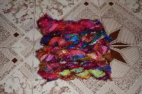 Sari Silk Multi Colour Fuzzy Ribbons