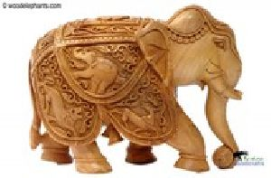 Wooden Carving Elephants
