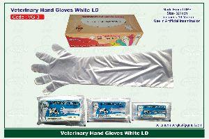Vg-4 White Veterinary Full Hand Gloves