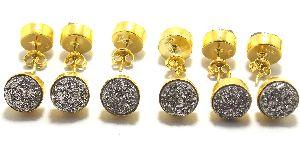 Rainbow Druzy Gemstone Earring