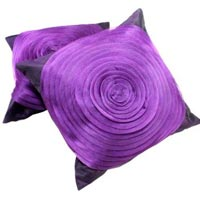 Contemporary Purple Color Tissue Throw Pillow Cushion Covers