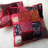 25pc Pink Embroidery Sequin Cushion Covers