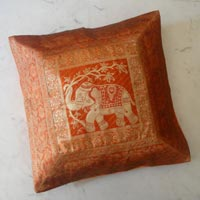 Embroidered Silk Cushion Pillow Cover