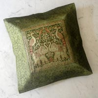 25pc Traditional Green Ethnic Cushion Covers