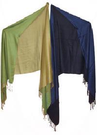 Silk Wool Reversible Stole
