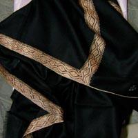 Woolen Sozni Embroidery Border Dar Shawl