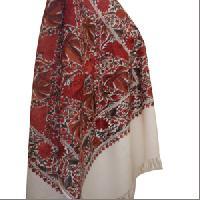 Woollen Ari embroidery jamma stole