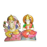 Stone Laxmi Ganesh Statue
