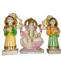 Stone Riddhi Siddhi Ganesh Statue