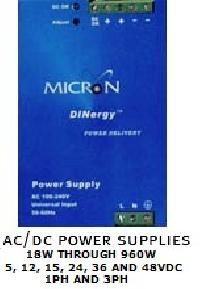 Micron Dinergy Din Rail Mounting Power Supplies