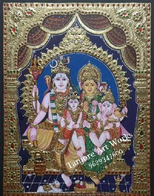 Shiv Parivar Tanjore Paintings