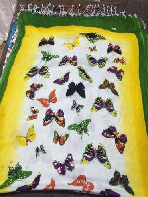 Pashmina Butterfly Print Stole