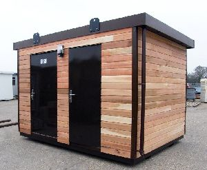 Wooden Portable Security Cabin