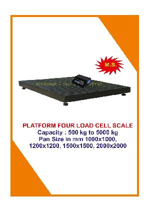 Four Load Cell Platform Weighing Scale