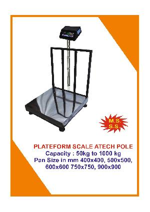 Pole Attached Platform Weighing Scale