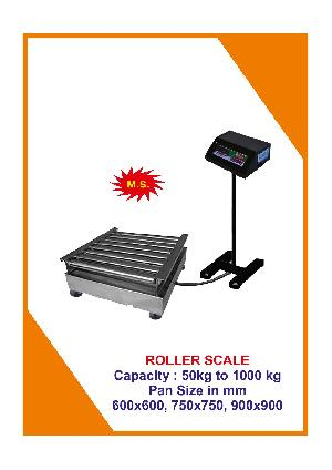 Roller Platform Weighing Scale