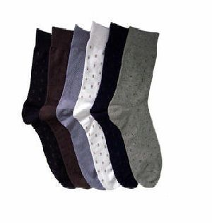 Mens Dotted Cotton Socks