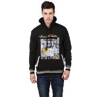 Mens Black Printed Sweatshirt