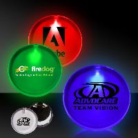 "2"" Lighted Glow Led Button Pin Badge"