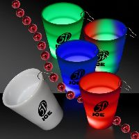2 Oz Neon Look Led Light Up Glow Shot Glass With J Hook