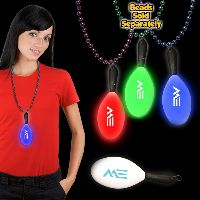 """7 1/2"""" Light Up LED Maraca with attached j-hook medallion"""