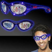 Blue Custom LED Billboard Sunglasses