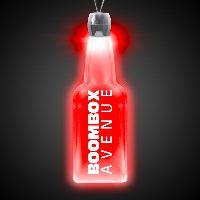 Bottle Red Light-Up Acrylic Pendant Necklace