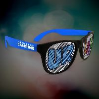 Custom Blue Neon Billboard Sunglasses
