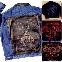 embossed denim jacket