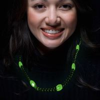 Green LED Beaded Necklaces